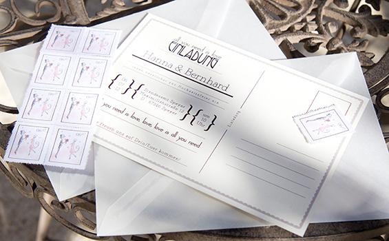 Printdesign Hochzeit