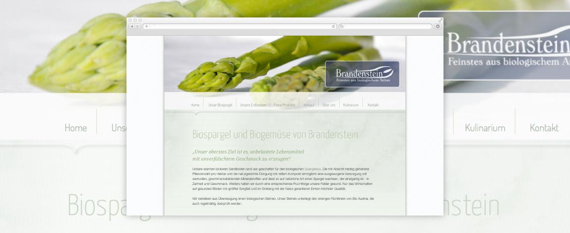 Webdesign Biospargel Brandenstein 1