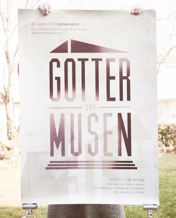Printdesign Faschingsfeier