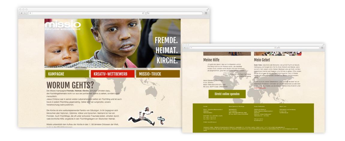 Webdesign Missio 1