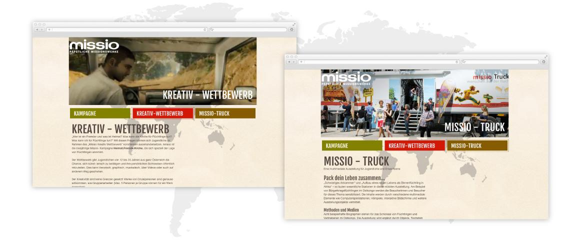 Webdesign Missio 2