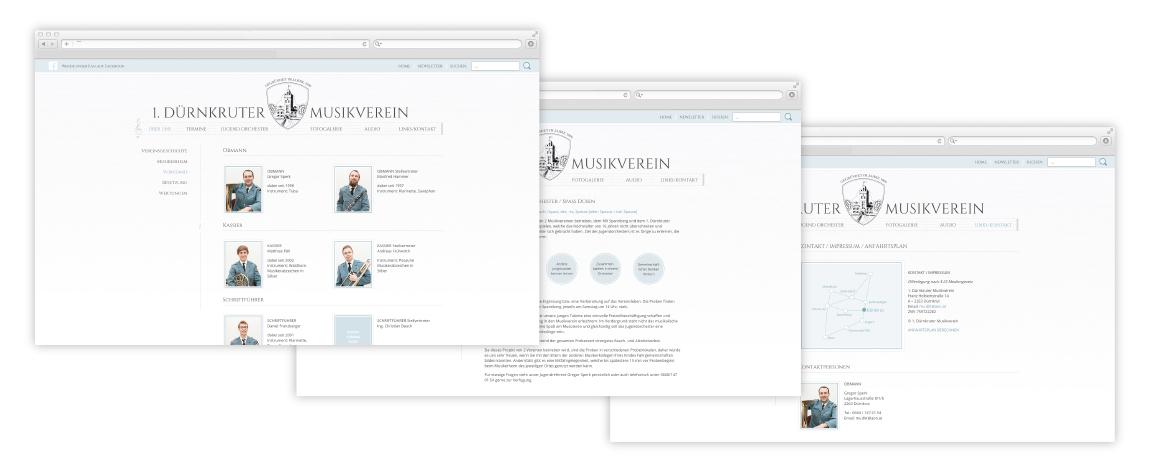 Webdesign Musikverein Marchegg 2